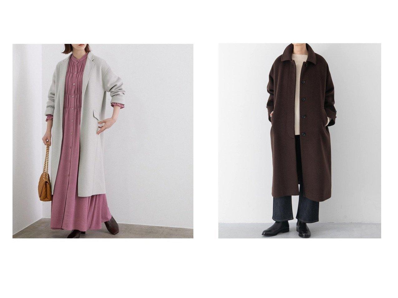 【ROPE' mademoiselle/ロペ マドモアゼル】の【イタリア製素材】ダブルフェイスリバーチェスターコート&【kagure/かぐれ】のウールバルマカンコート アウターのおすすめ!人気トレンド・レディースファッションの通販 おすすめで人気のファッション通販商品 インテリア・家具・キッズファッション・メンズファッション・レディースファッション・服の通販 founy(ファニー) https://founy.com/ ファッション Fashion レディースファッション WOMEN アウター Coat Outerwear コート Coats ジャケット Jackets チェスターコート Top Coat ジャケット デニム ベーシック ワイド イタリア カーディガン ショール シンプル ダブル チェスターコート フェイス フェミニン メルトン  ID:crp329100000007576