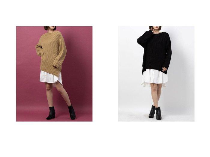 【Mystrada/マイストラーダ】のローゲージレイヤードミニワンピース アウターのおすすめ!人気トレンド・レディースファッションの通販 おすすめファッション通販アイテム レディースファッション・服の通販 founy(ファニー) ファッション Fashion レディースファッション WOMEN アウター Coat Outerwear シンプル |ID:crp329100000007588
