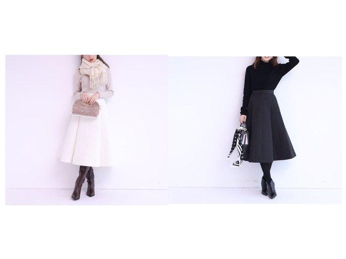【Apuweiser-riche/アプワイザーリッシェ】のキルティングスカート×ハイネックニットSET ワンピース・ドレスのおすすめ!人気トレンド・レディースファッションの通販 おすすめファッション通販アイテム レディースファッション・服の通販 founy(ファニー) ファッション Fashion レディースファッション WOMEN セットアップ Setup スカート Skirt キルティング コンパクト ハイネック バランス A/W 秋冬 Autumn & Winter |ID:crp329100000007613