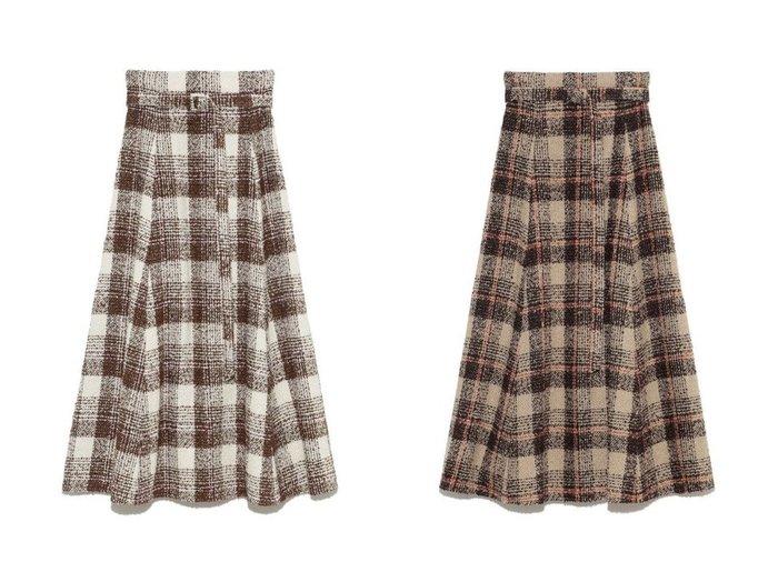 【Mila Owen/ミラオーウェン】のループチェックマキシフレアスカート スカートのおすすめ!人気トレンド・レディースファッションの通販 おすすめファッション通販アイテム レディースファッション・服の通販 founy(ファニー) ファッション Fashion レディースファッション WOMEN スカート Skirt Aライン/フレアスカート Flared A-Line Skirts ロングスカート Long Skirt チェック フレア ロング |ID:crp329100000007753