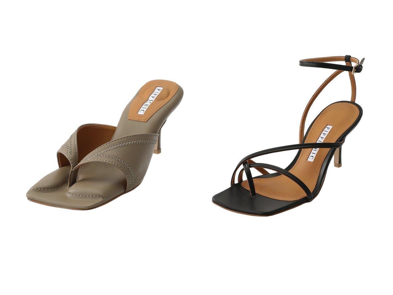 【Pippichic/ピッピシック】のLINDA NUDE ストラップサンダル&スクエアトゥトングミュール シューズ・靴のおすすめ!人気トレンド・レディースファッションの通販 おすすめで人気のファッション通販商品 インテリア・家具・キッズファッション・メンズファッション・レディースファッション・服の通販 founy(ファニー) https://founy.com/ ファッション Fashion レディースファッション WOMEN オケージョン サンダル なめらか ストラップサンダル |ID:crp329100000007769