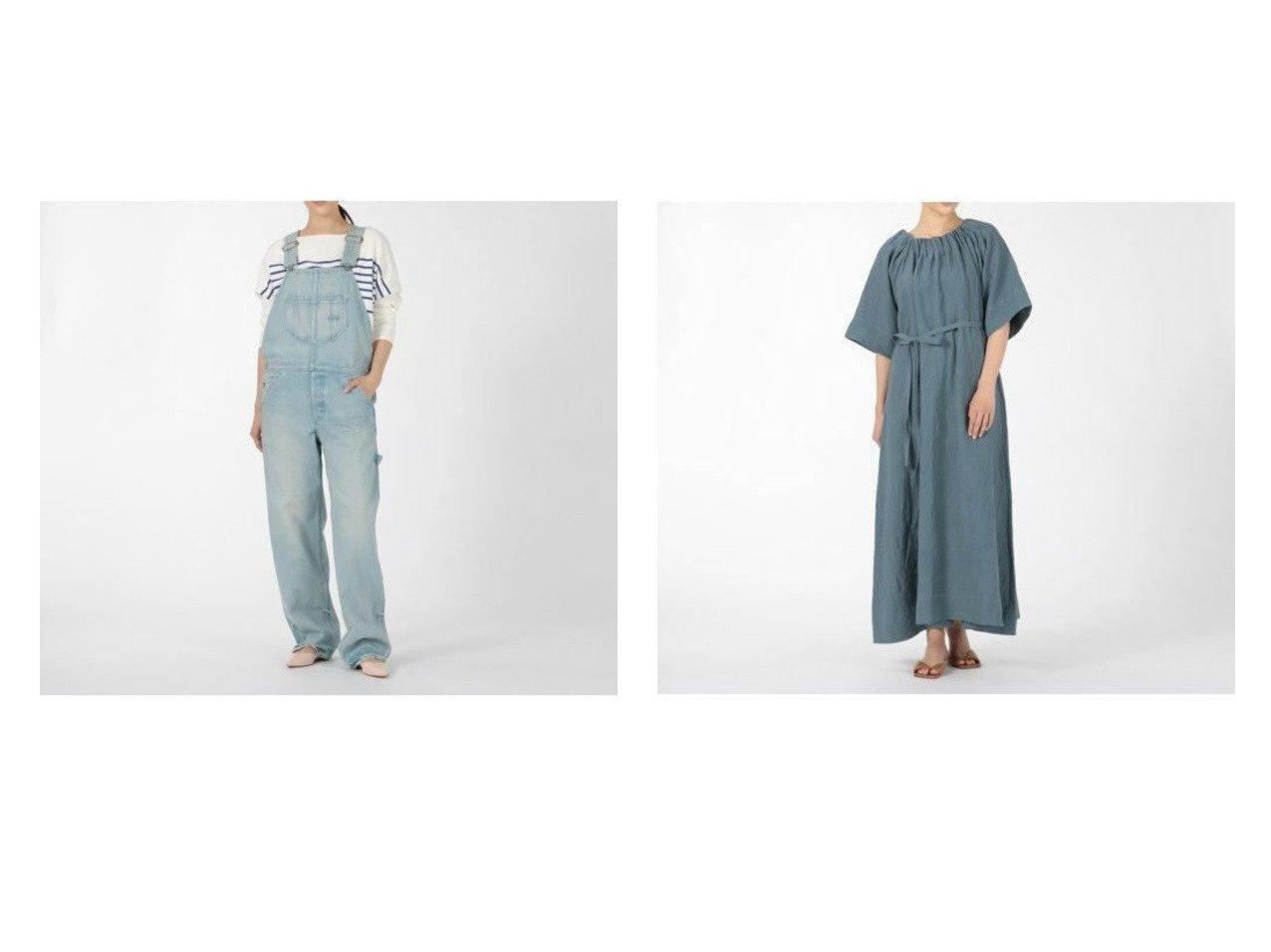 【BLUEBIRD BOULEVARD/ブルーバード ブルバード】のデニムオーバーオールストレートレッグ&ハードリンクルリネンリゾートドレス ワンピース・ドレスのおすすめ!人気トレンド・レディースファッションの通販  おすすめで人気のファッション通販商品 インテリア・家具・キッズファッション・メンズファッション・レディースファッション・服の通販 founy(ファニー) https://founy.com/ ファッション Fashion レディースファッション WOMEN ワンピース Dress ドレス Party Dresses オールインワン ワンピース All In One Dress サロペット Salopette ドレス マキシ リネン リボン デニム ユーズド |ID:crp329100000007797