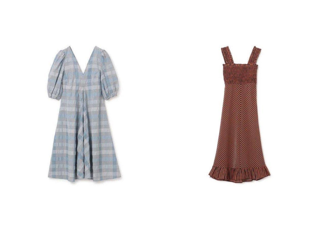 【GANNI/ガニー】のSeersucker Check Dress&S Dress ワンピース・ドレスのおすすめ!人気トレンド・レディースファッションの通販  おすすめで人気のファッション通販商品 インテリア・家具・キッズファッション・メンズファッション・レディースファッション・服の通販 founy(ファニー) https://founy.com/ ファッション Fashion レディースファッション WOMEN ワンピース Dress ドレス Party Dresses カーディガン ガーリー シャーリング セットアップ チェック ノースリーブ フリル マキシ ラップ 半袖 |ID:crp329100000007798