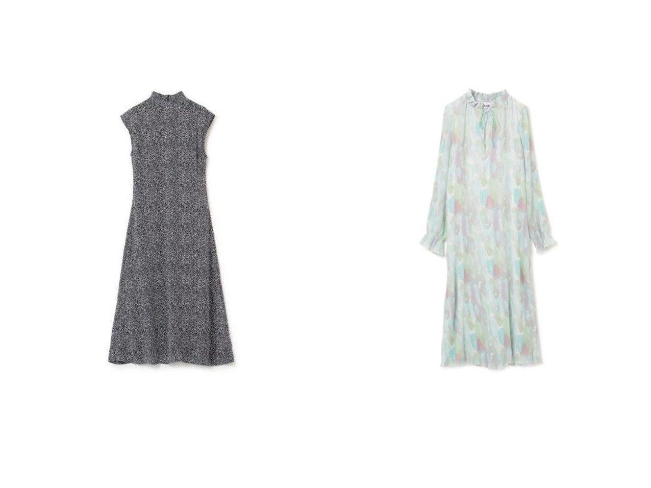 【GANNI/ガニー】のPrinted Georgette Dress&Pleated Georgette Dress ワンピース・ドレスのおすすめ!人気トレンド・レディースファッションの通販  おすすめで人気のファッション通販商品 インテリア・家具・キッズファッション・メンズファッション・レディースファッション・服の通販 founy(ファニー) https://founy.com/ ファッション Fashion レディースファッション WOMEN ワンピース Dress ドレス Party Dresses エアリー エレガント ジョーゼット ドレス フェミニン フォーマル フリル プリント プリーツ リボン 春 長袖 シンプル スタンド ノースリーブ フレア |ID:crp329100000007799