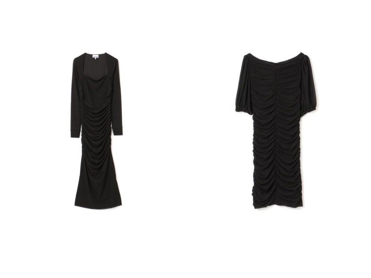 【GANNI/ガニー】のDotted Mesh Dress&Dotted Mesh Dress ワンピース・ドレスのおすすめ!人気トレンド・レディースファッションの通販  おすすめで人気のファッション通販商品 インテリア・家具・キッズファッション・メンズファッション・レディースファッション・服の通販 founy(ファニー) https://founy.com/ ファッション Fashion レディースファッション WOMEN ワンピース Dress ドレス Party Dresses デコルテ ドット ドレス ドレープ フォーマル メッシュ ラウンド 半袖 フェミニン マキシ 長袖 |ID:crp329100000007800