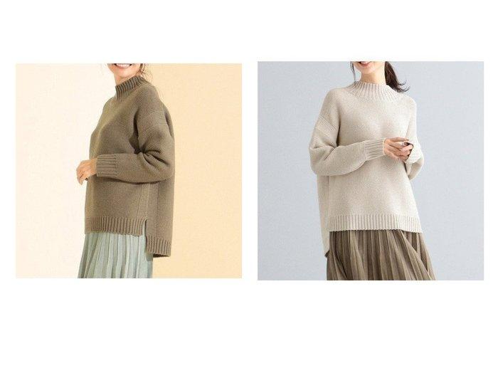 【any FAM/エニィファム】のラムーウール ニット トップス・カットソーのおすすめ!人気トレンド・レディースファッションの通販  おすすめファッション通販アイテム レディースファッション・服の通販 founy(ファニー) ファッション Fashion レディースファッション WOMEN トップス Tops Tshirt ニット Knit Tops スリット |ID:crp329100000007836