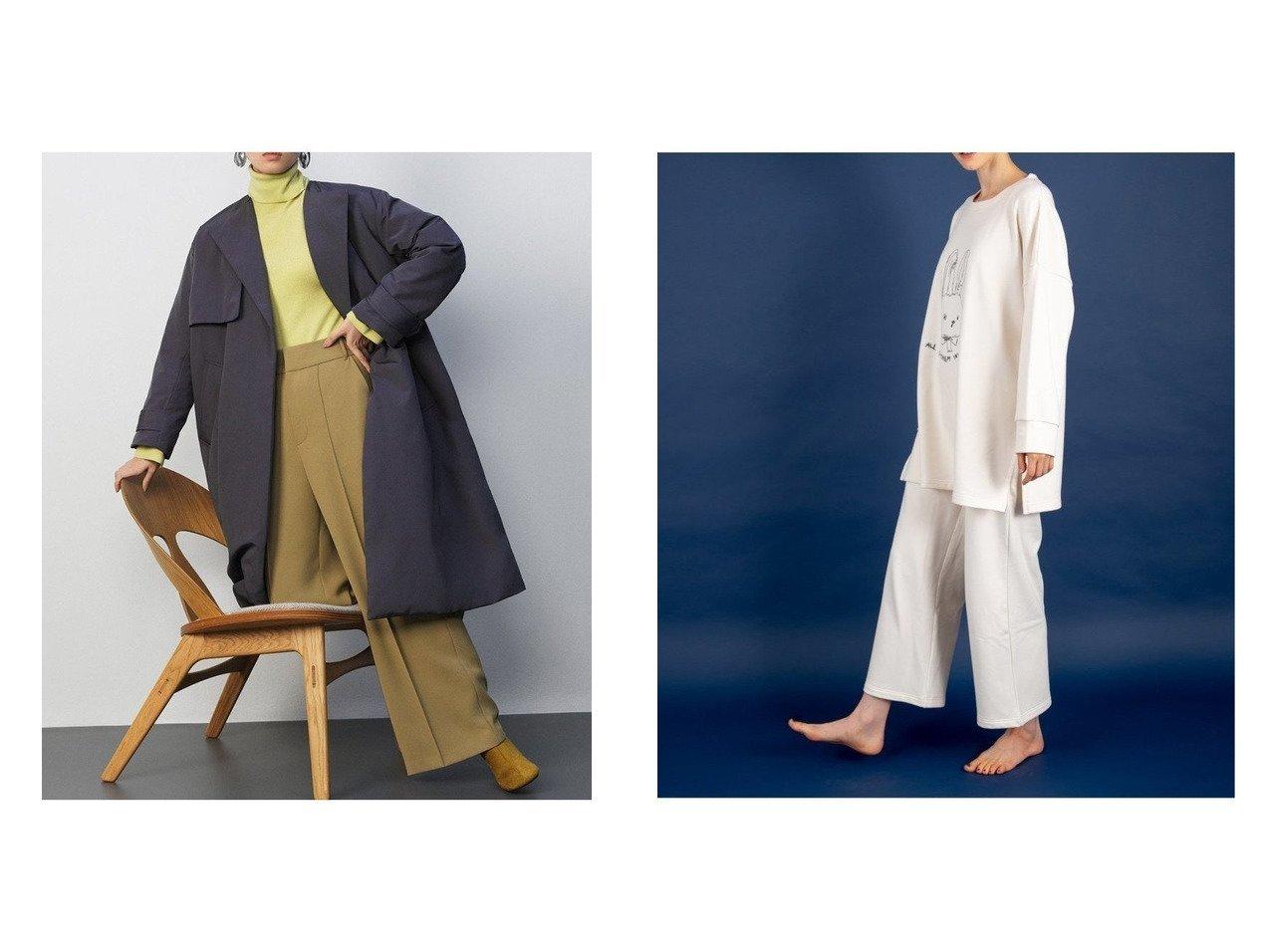 【Mila Owen/ミラオーウェン】のセンターコバ後ゴムワイドパンツ&【PAUL & JOE/ポール & ジョー】のうさぎ裏フリース ロングパンツ パンツのおすすめ!人気トレンド・レディースファッションの通販 おすすめで人気のファッション通販商品 インテリア・家具・キッズファッション・メンズファッション・レディースファッション・服の通販 founy(ファニー) https://founy.com/ ファッション Fashion レディースファッション WOMEN パンツ Pants 12月号 エレガント ジーンズ ワイド A/W 秋冬 Autumn &  Winter インナー コレクション ストレート プリント ポケット モチーフ ロング |ID:crp329100000007847