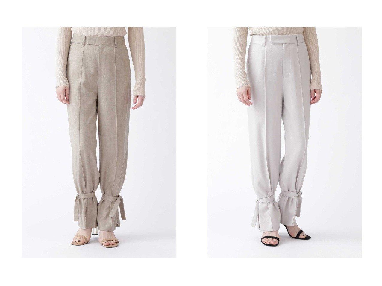 【JILLSTUART/ジルスチュアート】の《EXCLUSIVE LINE》スリットリボンパンツ パンツのおすすめ!人気トレンド・レディースファッションの通販 おすすめで人気のファッション通販商品 インテリア・家具・キッズファッション・メンズファッション・レディースファッション・服の通販 founy(ファニー) https://founy.com/ ファッション Fashion レディースファッション WOMEN パンツ Pants シンプル ジーンズ スリット マニッシュ リボン |ID:crp329100000007849