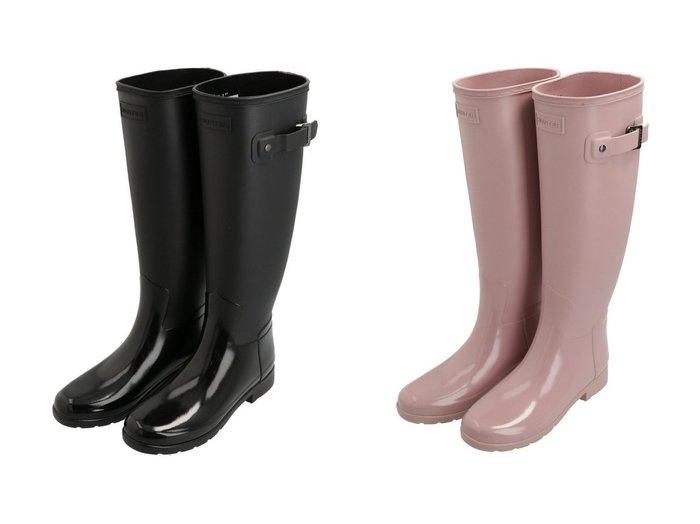 【HUNTER/ハンター】のWOMENS REFINED TALL GLOSS DUO シューズ・靴のおすすめ!人気トレンド・レディースファッションの通販 おすすめファッション通販アイテム レディースファッション・服の通販 founy(ファニー) ファッション Fashion レディースファッション WOMEN シェイプ シューズ スリム フィット 軽量 |ID:crp329100000007870