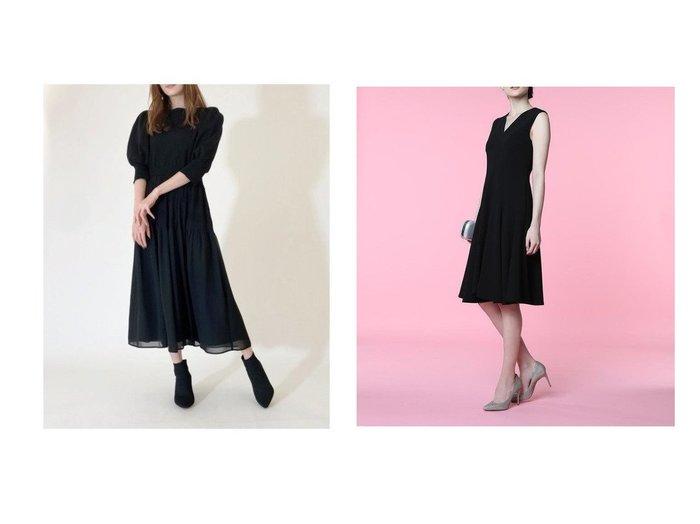 【ef-de/エフデ】の《M Maglie le cassetto》Vネック切り替えドレス&【CELFORD/セルフォード】のニットドッキングプリーツワンピース ワンピース・ドレスのおすすめ!人気トレンド・レディースファッションの通販 おすすめファッション通販アイテム レディースファッション・服の通販 founy(ファニー) ファッション Fashion レディースファッション WOMEN ワンピース Dress ドレス Party Dresses クリスタル シアー シフォン スマート ドッキング 人気 プリーツ ストレッチ ダブル ドレス ドレープ パターン フィット ポケット |ID:crp329100000007922
