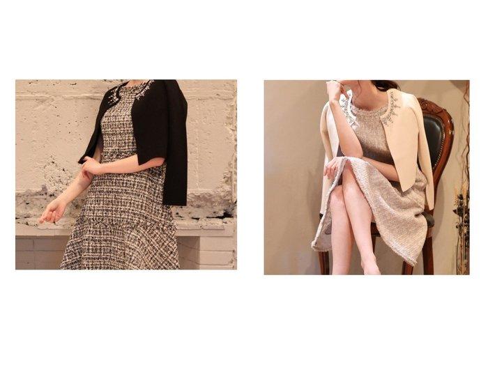 【ef-de/エフデ】の《M Maglie le cassetto》ビジューボレロカーディガン トップス・カットソーのおすすめ!人気トレンド・レディースファッションの通販 おすすめファッション通販アイテム レディースファッション・服の通販 founy(ファニー) ファッション Fashion レディースファッション WOMEN トップス Tops Tshirt ニット Knit Tops カーディガン Cardigans カーディガン クラシカル コンパクト ジャケット ドレス パール ビジュー ボレロ モチーフ 冬 Winter |ID:crp329100000007957