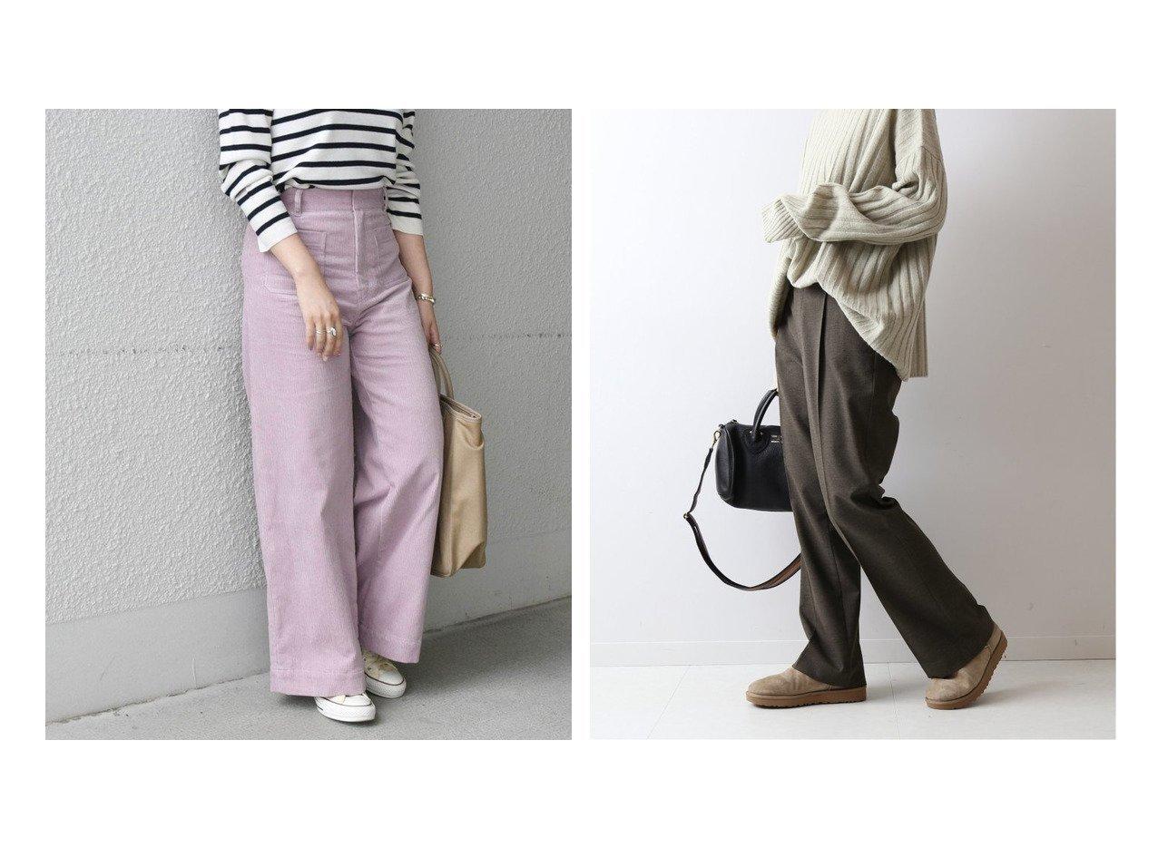【FRAMeWORK/フレームワーク】の裏起毛ストレッチフレアーパンツ&【SHIPS any/シップス エニィ】のSHIPS any コーデュロイ ポケットパンツ パンツのおすすめ!人気トレンド・レディースファッションの通販 おすすめで人気のファッション通販商品 インテリア・家具・キッズファッション・メンズファッション・レディースファッション・服の通販 founy(ファニー) https://founy.com/ ファッション Fashion レディースファッション WOMEN パンツ Pants コーデュロイ 人気 ポケット A/W 秋冬 Autumn &  Winter なめらか ストレッチ フレア  ID:crp329100000007974