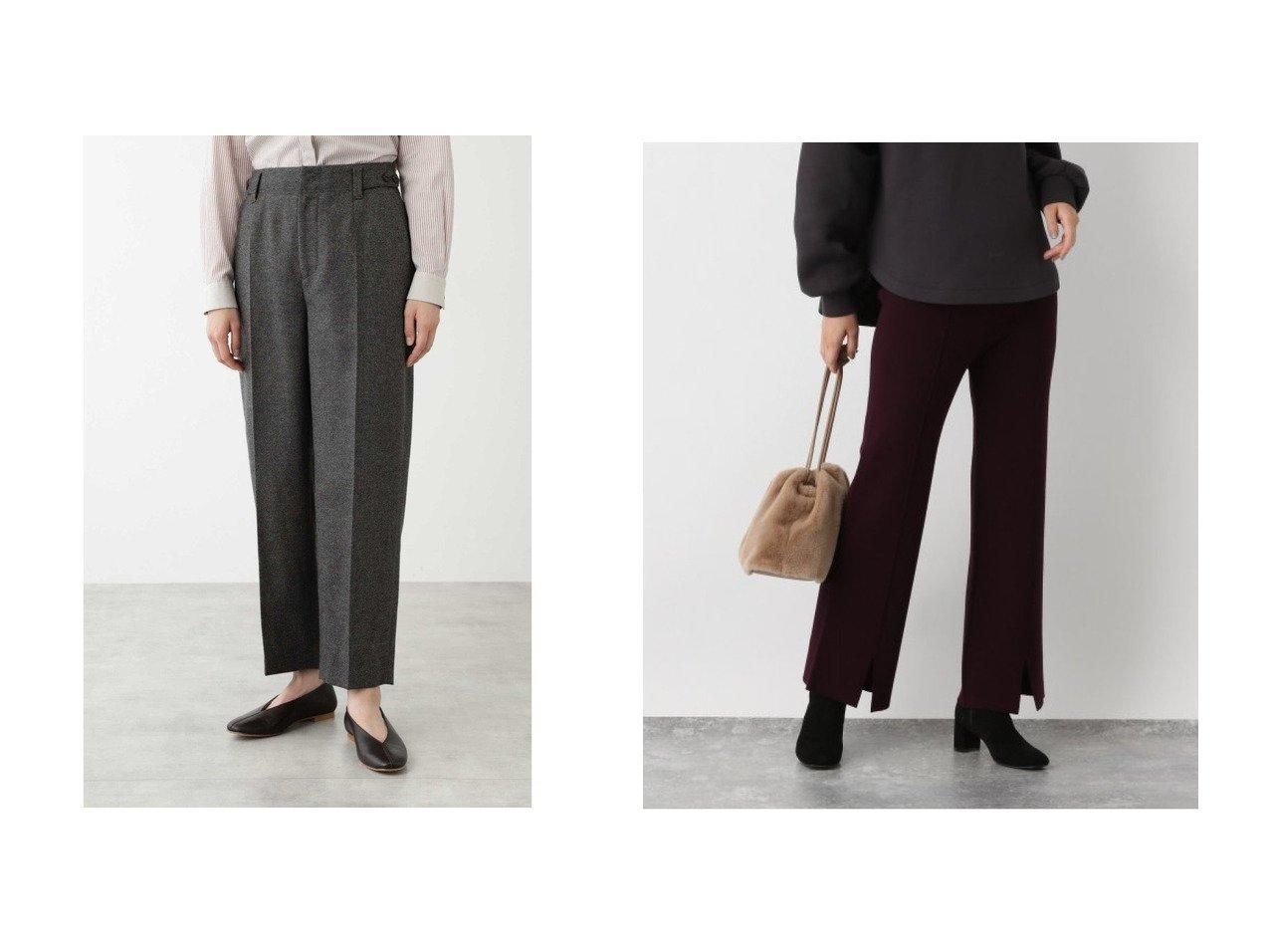【GLOBAL WORK/グローバルワーク】のメルティニットスリットパンツ&【HUMAN WOMAN/ヒューマンウーマン】の撚り杢ツィードパンツ パンツのおすすめ!人気トレンド・レディースファッションの通販 おすすめで人気のファッション通販商品 インテリア・家具・キッズファッション・メンズファッション・レディースファッション・服の通販 founy(ファニー) https://founy.com/ ファッション Fashion レディースファッション WOMEN パンツ Pants カットソー ジーンズ センター セーター ツィード テーパード 定番 スリット フィット フロント  ID:crp329100000007984