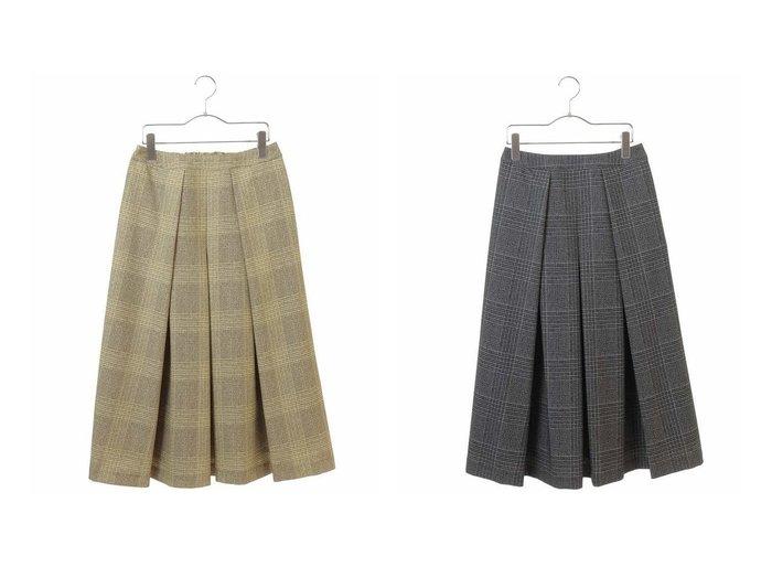 【HIROKO BIS/ヒロコビス】の【洗濯機で洗える】タックフレアミディスカート スカートのおすすめ!人気トレンド・レディースファッションの通販 おすすめファッション通販アイテム レディースファッション・服の通販 founy(ファニー)  ファッション Fashion レディースファッション WOMEN スカート Skirt チェック パターン フェミニン |ID:crp329100000008000