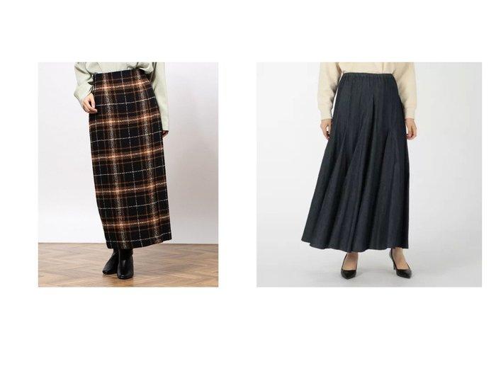 【Munich/ミューニック】のwashed 4oz light denim circular skirt&【Mila Owen/ミラオーウェン】のチェック柄サイドベンツロングSK スカートのおすすめ!人気トレンド・レディースファッションの通販 おすすめファッション通販アイテム レディースファッション・服の通販 founy(ファニー) ファッション Fashion レディースファッション WOMEN スカート Skirt チェック デニム フレア マキシ ロング ヴィンテージ |ID:crp329100000008008