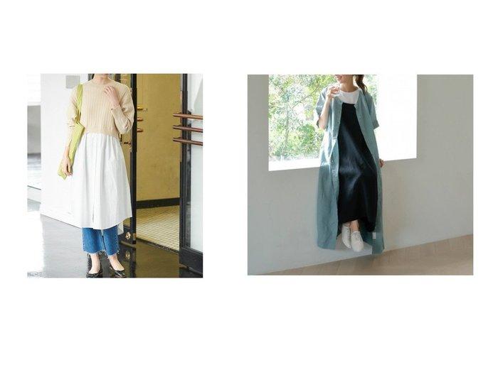 【studio CLIP/スタディオ クリップ】のL100マキシ2WAYOP&【VIS/ビス】のミニケーブルニットドッキングワンピース ワンピース・ドレスのおすすめ!人気トレンド・レディースファッションの通販 おすすめファッション通販アイテム レディースファッション・服の通販 founy(ファニー) ファッション Fashion レディースファッション WOMEN ワンピース Dress マキシワンピース Maxi Dress セーター デニム ドッキング ロング 冬 Winter サマー ショルダー ストライプ チェック ドロップ フレンチ ポケット 羽織 マキシ リネン |ID:crp329100000008077