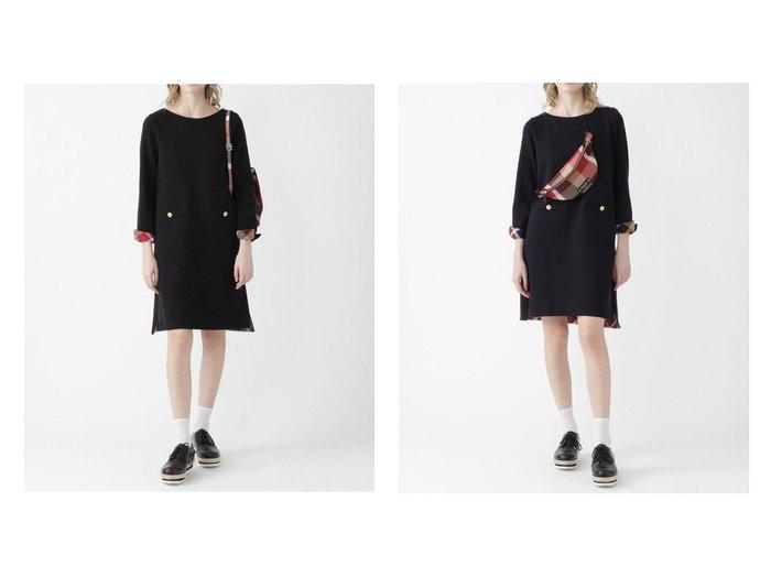 【BLUE LABEL CRESTBRIDGE/ブルーレーベル クレストブリッジ】のウォームストレッチポンチワンピース ワンピース・ドレスのおすすめ!人気トレンド・レディースファッションの通販 おすすめファッション通販アイテム レディースファッション・服の通販 founy(ファニー) ファッション Fashion レディースファッション WOMEN ワンピース Dress シャツワンピース Shirt Dresses アクリル ジャージ ストレッチ チェック リブニット 定番 |ID:crp329100000008079