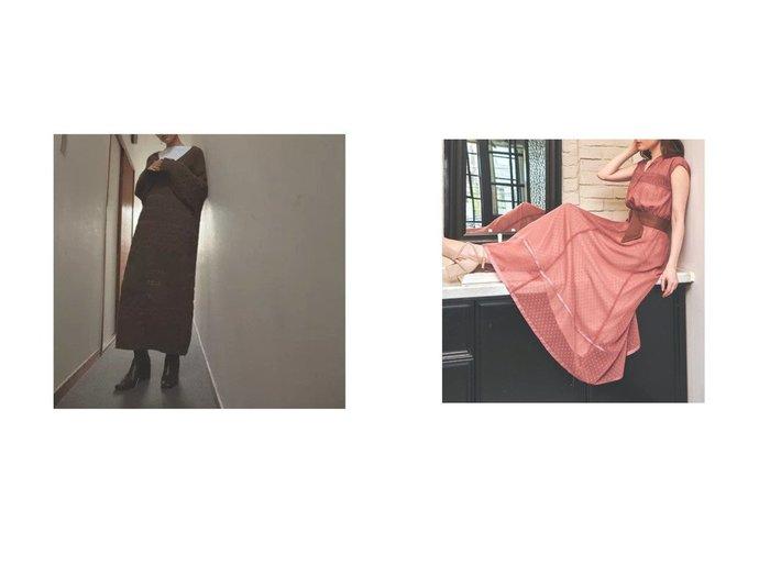 【Noela/ノエラ】のエコスエードベルトセットロングワンピース&【marjour/マージュール】のCABLE KNIT ONEPIECE ワンピース・ドレスのおすすめ!人気トレンド・レディースファッションの通販 おすすめファッション通販アイテム レディースファッション・服の通販 founy(ファニー) ファッション Fashion レディースファッション WOMEN ワンピース Dress ニットワンピース Knit Dresses ベルト Belts キャミソール クール バランス ボトム レギンス 長袖 シャーリング スエード リラックス ロング |ID:crp329100000008084
