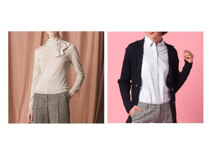 【EPOCA/エポカ】のシルクカシミヤニット&【OLD ENGLAND/オールド イングランド】のソクタスパターンドットシャツ トップス・カットソーのおすすめ!人気トレンド・レディースファッションの通販 おすすめファッション通販アイテム レディースファッション・服の通販 founy(ファニー) ファッション Fashion レディースファッション WOMEN トップス Tops Tshirt シャツ/ブラウス Shirts Blouses ニット Knit Tops ベーシック エレガント カシミヤ シルク セーター ループ |ID:crp329100000008098