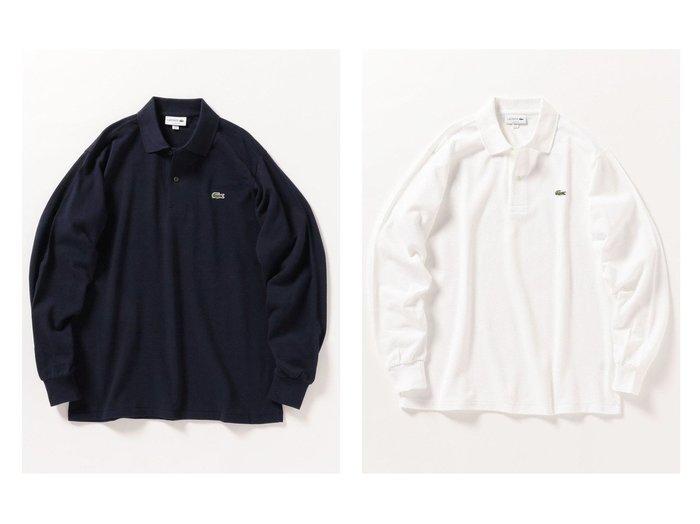 【SHIPS any / MEN/シップス エニィ】のLACOSTE: L1312DL ポロシャツ ロングスリーブ 【MEN】男性のおすすめ!人気トレンド・メンズファッションの通販 おすすめファッション通販アイテム レディースファッション・服の通販 founy(ファニー) ファッション Fashion メンズファッション MEN トップス Tops Tshirt Men シャツ Shirts ポロシャツ Polo Shirts カットソー カーディガン シンプル ジャケット スリーブ 定番 人気 長袖 フランス ポロシャツ ルーズ ロング ワンポイント ワーク |ID:crp329100000008154