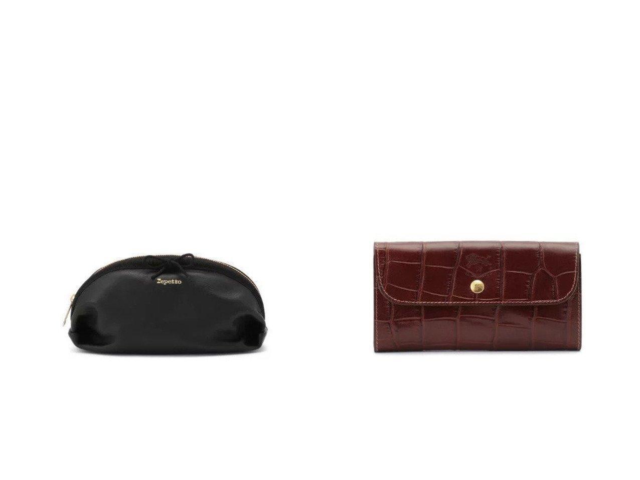 【IL BISONTE/イル ビゾンテ】のロングウォレット&【repetto/レペット】のTrousse maquillage pouch おすすめ!人気トレンド・レディースファッションの通販  おすすめで人気のファッション通販商品 インテリア・家具・キッズファッション・メンズファッション・レディースファッション・服の通販 founy(ファニー) https://founy.com/ ファッション Fashion レディースファッション WOMEN ポーチ Pouches 財布 Wallets フォルム ポーチ モノトーン ワンポイント エレガント ラグジュアリー 財布 |ID:crp329100000008190