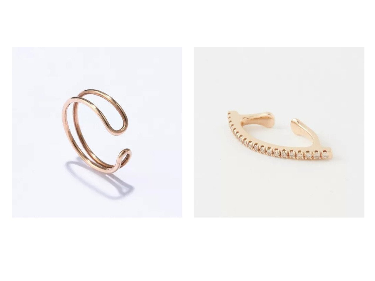 【Hirotaka/ヒロタカ】のDouble Line Ear Cuff&Diamond Bow Ear Cuff おすすめ!人気トレンド・レディースファッションの通販  おすすめで人気のファッション通販商品 インテリア・家具・キッズファッション・メンズファッション・レディースファッション・服の通販 founy(ファニー) https://founy.com/ ファッション Fashion レディースファッション WOMEN ジュエリー Jewelry リング Rings イヤリング Earrings アクセサリー イヤリング イヤーカフ シンプル フィット  ID:crp329100000008192