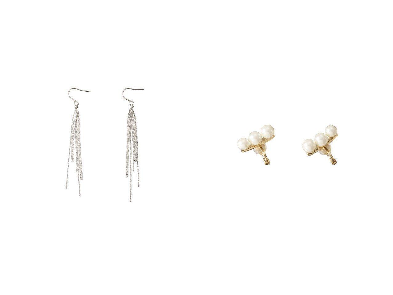 【ANAYI/アナイ】のパールバーツキイヤークリップ&【martinique/マルティニーク】の【sumikaneko】ピアス アクセサリー・ジュエリーおすすめ!人気トレンド・レディースファッションの通販  おすすめで人気のファッション通販商品 インテリア・家具・キッズファッション・メンズファッション・レディースファッション・服の通販 founy(ファニー) https://founy.com/ ファッション Fashion レディースファッション WOMEN アウター Coat Outerwear ジャケット Jackets ブルゾン Blouson Jackets オケージョン シルバー チェーン パーティ イヤリング ジャケット バランス パール ブルゾン リュクス |ID:crp329100000008209