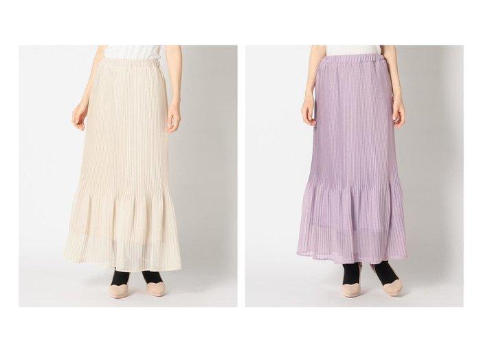 【MISCH MASCH/ミッシュマッシュ】の《田中みな実さん着用》ラメプリーツロングスカート おすすめ!人気トレンド・レディースファッションの通販 おすすめファッション通販アイテム インテリア・キッズ・メンズ・レディースファッション・服の通販 founy(ファニー) https://founy.com/ ファッションモデル・俳優・女優 Models 女性 Women 田中みな実 Tanaka Minami ファッション Fashion レディースファッション WOMEN スカート Skirt Aライン/フレアスカート Flared A-Line Skirts ロングスカート Long Skirt ギャザー フレア プリーツ マーメイド リラックス ロング 冬 Winter |ID:crp329100000008235