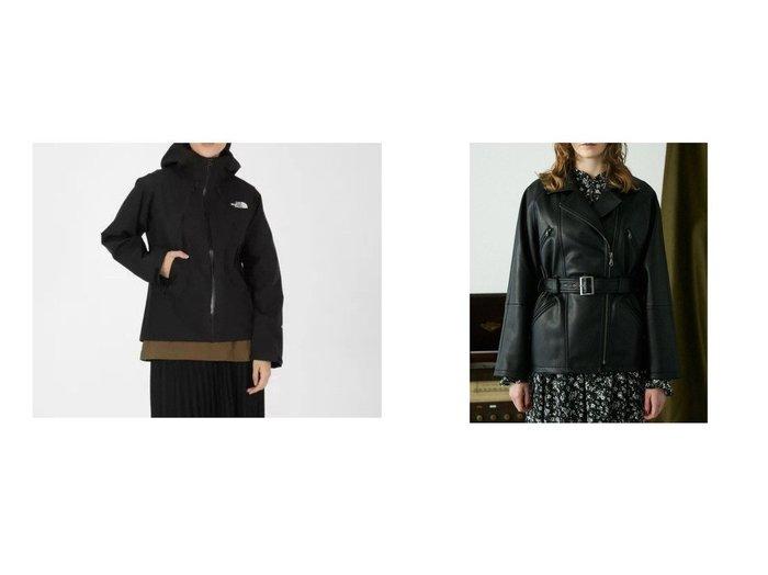 【moussy/マウジー】のLEATHER ジャケット&【THE NORTH FACE/ザ ノース フェイス】のClimbLightJacket(ゴアテックス) アウターのおすすめ!人気トレンド・レディースファッションの通販 おすすめファッション通販アイテム レディースファッション・服の通販 founy(ファニー) ファッション Fashion レディースファッション WOMEN アウター Coat Outerwear コート Coats ジャケット Jackets ジャケット デニム フレア ライダース レース コンパクト スリム 軽量 |ID:crp329100000008356