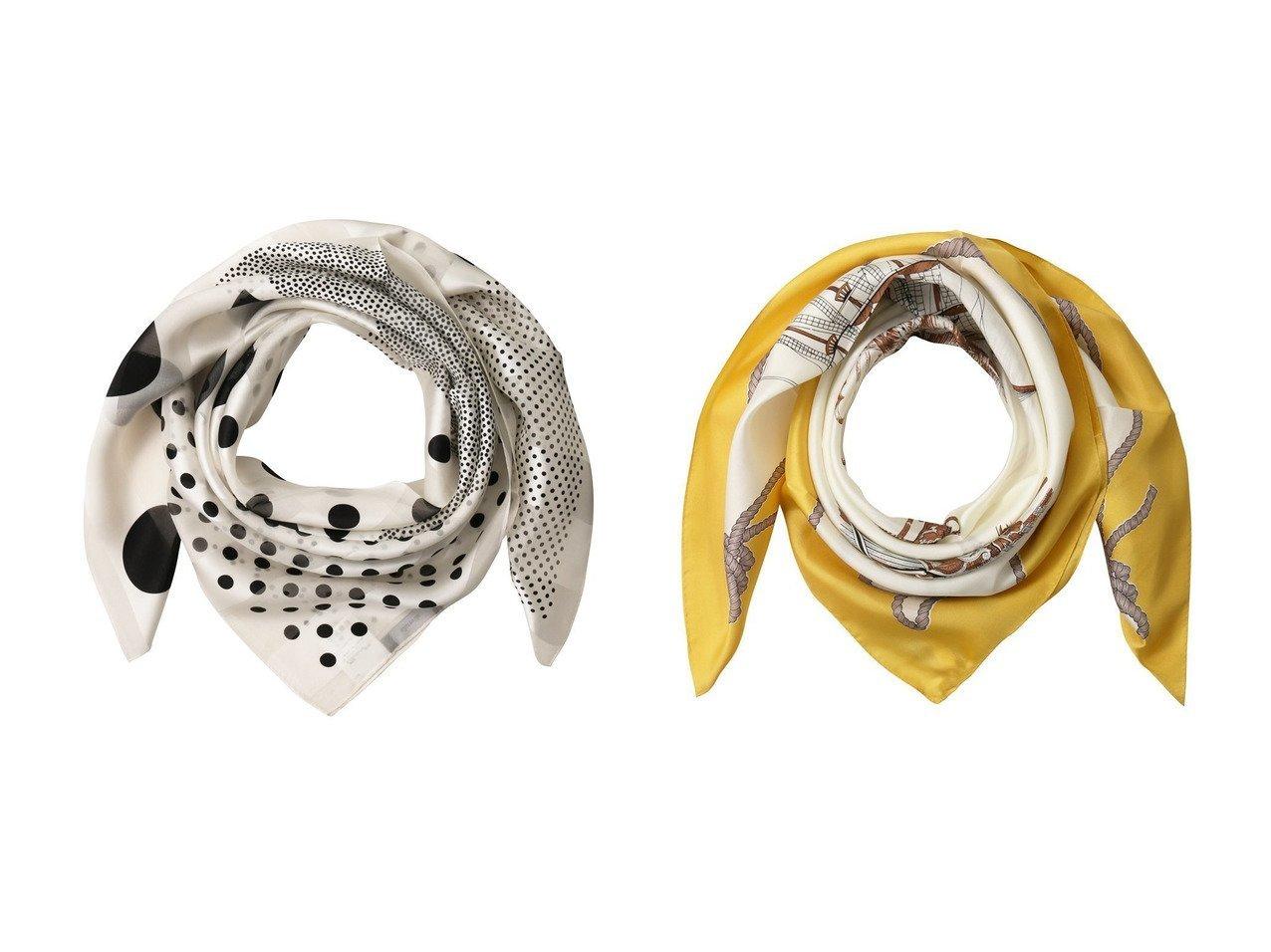 【allureville/アルアバイル】のドットシアーボーダースカーフ&マリンパターンシルクスカーフ おすすめ!人気トレンド・レディースファッションの通販  おすすめで人気のファッション通販商品 インテリア・家具・キッズファッション・メンズファッション・レディースファッション・服の通販 founy(ファニー) https://founy.com/ ファッション Fashion レディースファッション WOMEN シルク スカーフ ドット ボーダー モノトーン クラシカル ラグジュアリー ワンポイント |ID:crp329100000008443