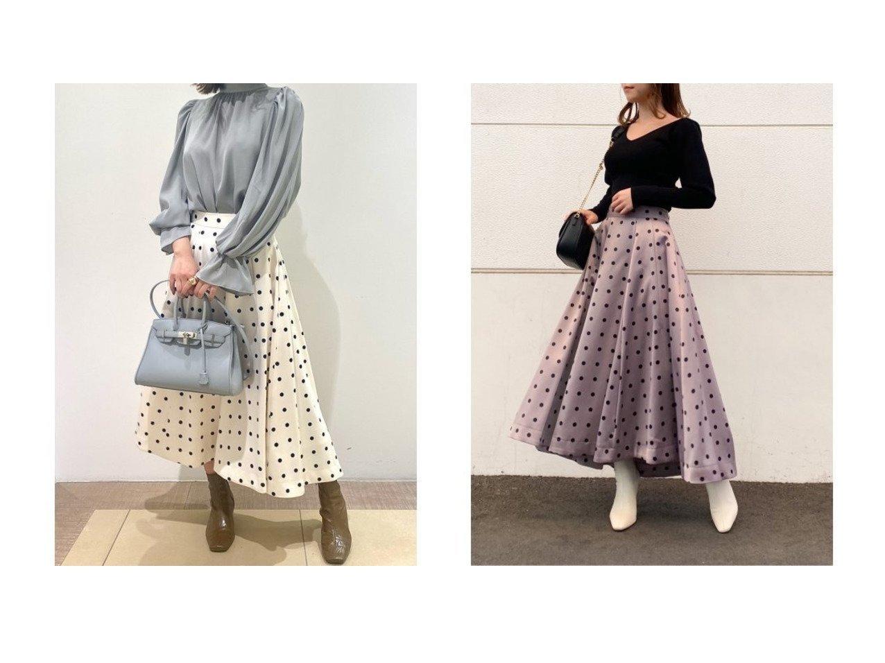 【SNIDEL/スナイデル】のプリントボリュームフレアスカート スカートのおすすめ!人気トレンド・レディースファッションの通販 おすすめで人気の流行・トレンド、ファッションの通販商品 メンズファッション・キッズファッション・インテリア・家具・レディースファッション・服の通販 founy(ファニー) https://founy.com/ ファッション Fashion レディースファッション WOMEN スカート Skirt Aライン/フレアスカート Flared A-Line Skirts サテン スマート トレンド ドット パープル フィット フレア プリント 冬 Winter  ID:crp329100000008531