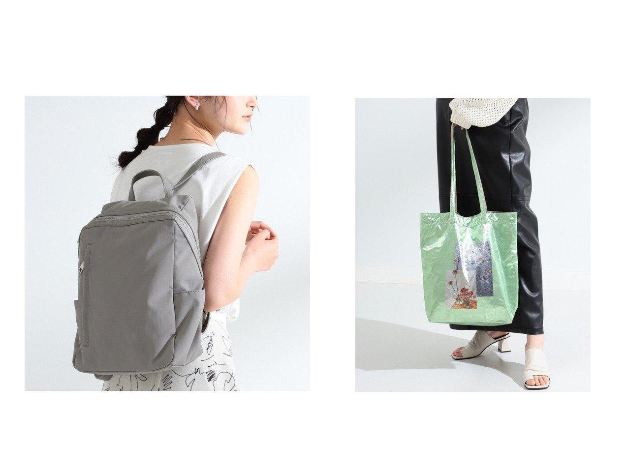 【Ray BEAMS/レイ ビームス】のナイロン フェイクレザー リュック&Casselini × 別注 フォトプリント メタリック バッグ バッグ・鞄のおすすめ!人気トレンド・レディースファッションの通販 おすすめで人気の流行・トレンド、ファッションの通販商品 メンズファッション・キッズファッション・インテリア・家具・レディースファッション・服の通販 founy(ファニー) https://founy.com/ ファッション Fashion レディースファッション WOMEN バッグ Bag アクセサリー トレンド プリント ワンポイント 別注 スクエア フェイクレザー ポケット リュック |ID:crp329100000008562