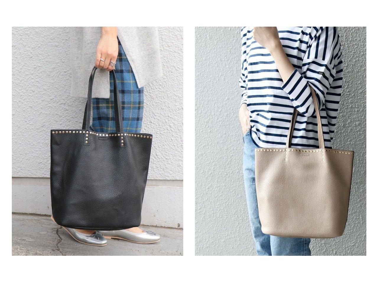【SHIPS any/シップス エニィ】のSHIPS any: 2WAY スタッズ ビッグトート 2 バッグ・鞄のおすすめ!人気トレンド・レディースファッションの通販 おすすめで人気の流行・トレンド、ファッションの通販商品 メンズファッション・キッズファッション・インテリア・家具・レディースファッション・服の通販 founy(ファニー) https://founy.com/ ファッション Fashion レディースファッション WOMEN バッグ Bag インナー ショルダー シンプル スタッズ ポーチ マグネット 人気 A/W 秋冬 Autumn &  Winter |ID:crp329100000008564