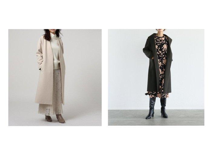 【LASUD/ラシュッド】のRADIATE ニットロングコート&【UNTITLED/アンタイトル】のニューイングランドラムノーカラーコート アウターのおすすめ!人気トレンド・レディースファッションの通販 おすすめファッション通販アイテム レディースファッション・服の通販 founy(ファニー) ファッション Fashion レディースファッション WOMEN アウター Coat Outerwear コート Coats ジャケット Jackets ノーカラージャケット No Collar Leather Jackets ショルダー ジャケット ドロップ バランス プリーツ ポケット マキシ メルトン アクリル インナー ガウン クール 今季 タートル 人気 ハイネック ロング A/W 秋冬 Autumn & Winter |ID:crp329100000008567