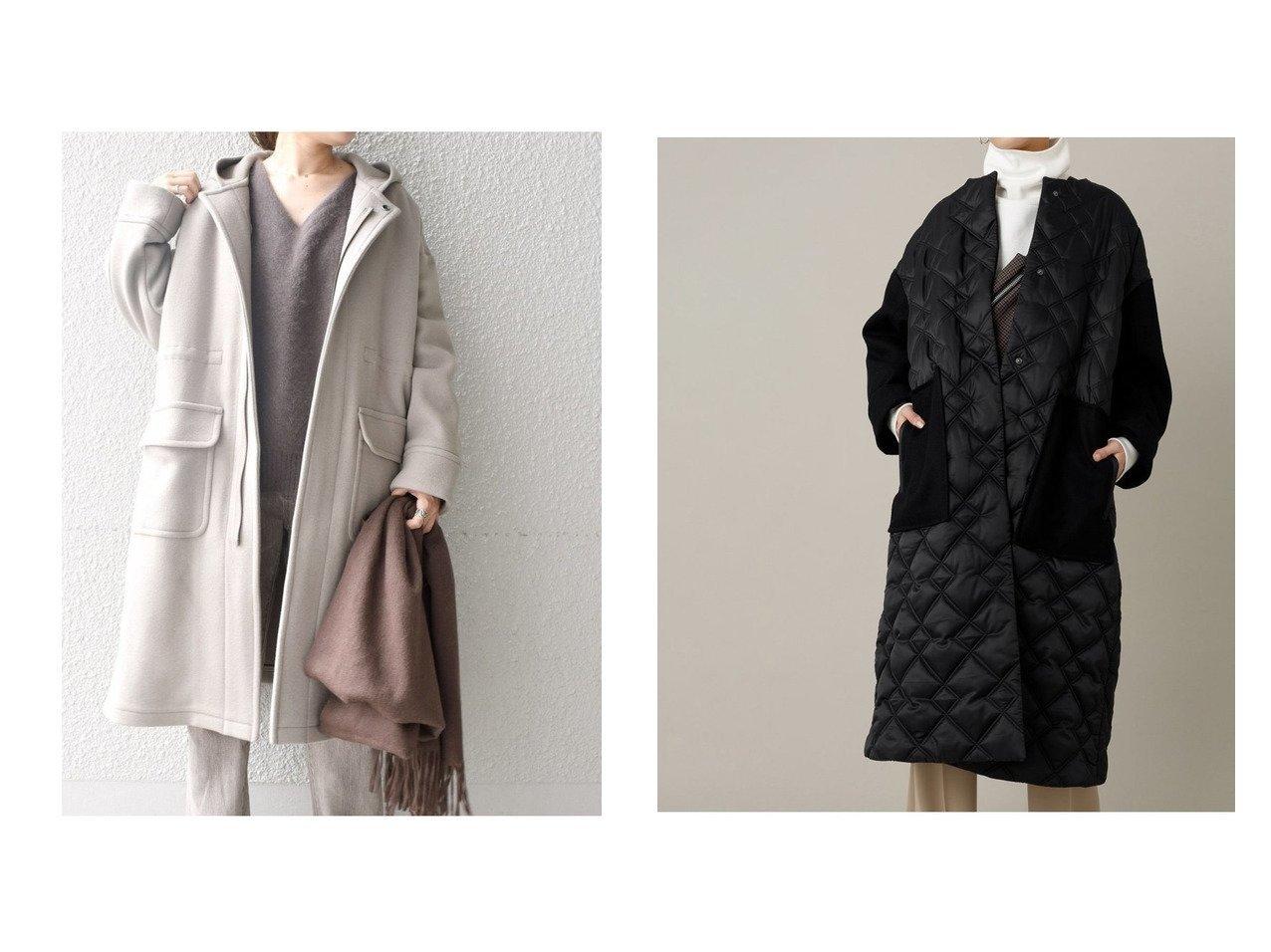 【SHIPS/シップス フォー ウィメン】のウールモッズTAIONダウン&【Adam et Rope/アダム エ ロペ】のキルティングメルトンコート アウターのおすすめ!人気トレンド・レディースファッションの通販 おすすめで人気の流行・トレンド、ファッションの通販商品 メンズファッション・キッズファッション・インテリア・家具・レディースファッション・服の通販 founy(ファニー) https://founy.com/ ファッション Fashion レディースファッション WOMEN アウター Coat Outerwear コート Coats ジャケット Jackets なめらか インナー ジャケット ダウン フレア ベスト ライナー キルティング スラックス タフタ デニム ポケット メルトン 冬 Winter |ID:crp329100000008584