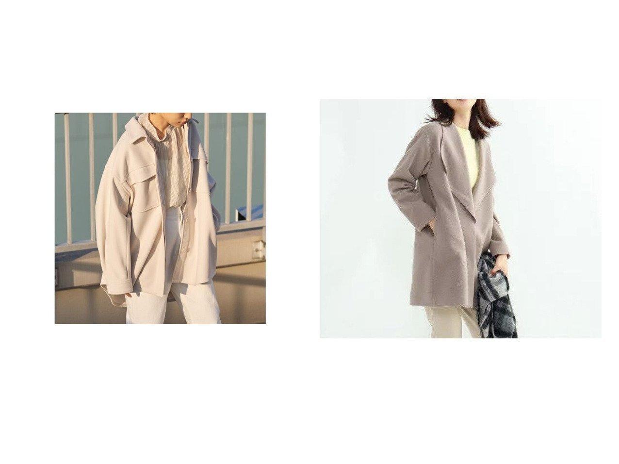 【INDIVI/インディヴィ】のビーバービックカラーコート&【SNIDEL/スナイデル】のCPOジャケット アウターのおすすめ!人気トレンド・レディースファッションの通販 おすすめで人気の流行・トレンド、ファッションの通販商品 メンズファッション・キッズファッション・インテリア・家具・レディースファッション・服の通販 founy(ファニー) https://founy.com/ ファッション Fashion レディースファッション WOMEN アウター Coat Outerwear ジャケット Jackets コート Coats アクリル 春 ジャケット スマート トレンド フロント ロング イタリア ストレート ダウン テーパード デニム ドロップ ハイネック フォルム ボトム ポケット ミドル メルトン 冬 Winter |ID:crp329100000008595