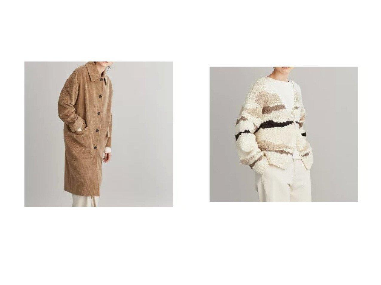 【SIPULI/シプリ】のCotton Cashmere Corduroy ビッグカラーオーバーコート&Norwegian Dry Wool カモフラ柄手編みカーディガン おすすめ!人気トレンド・レディースファッションの通販  おすすめで人気の流行・トレンド、ファッションの通販商品 メンズファッション・キッズファッション・インテリア・家具・レディースファッション・服の通販 founy(ファニー) https://founy.com/ ファッションモデル・俳優・女優 Models 女性 Women 比留川游 Hirukawa Yu ファッション Fashion レディースファッション WOMEN アウター Coat Outerwear コート Coats トップス Tops Tshirt カーディガン Cardigans イタリア コレクション コーデュロイ ショルダー 雑誌 テーラード トレンド なめらか ポケット リラックス A/W 秋冬 Autumn &  Winter  ID:crp329100000008689