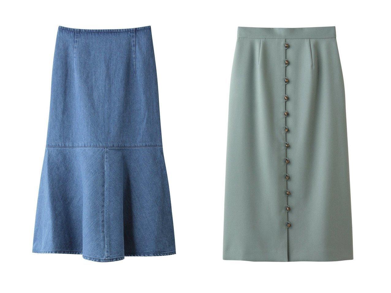 【Whim Gazette/ウィムガゼット】のデニムフレアスカート&【LE CIEL BLEU/ルシェル ブルー】のボールボタンスカート スカートのおすすめ!人気トレンド・レディースファッションの通販 おすすめで人気の流行・トレンド、ファッションの通販商品 メンズファッション・キッズファッション・インテリア・家具・レディースファッション・服の通販 founy(ファニー) https://founy.com/ ファッション Fashion レディースファッション WOMEN スカート Skirt Aライン/フレアスカート Flared A-Line Skirts ロングスカート Long Skirt デニム ペプラム マーメイド ロング |ID:crp329100000008770