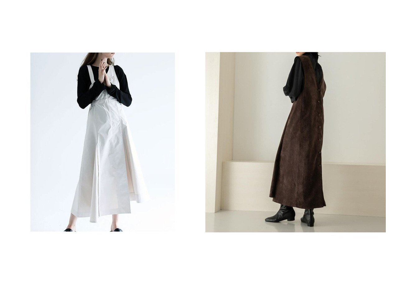 【KBF / URBAN RESEARCH/ケービーエフ】のコーデュロイクロスジャンパースカート&【AULA AILA/アウラアイラ】のウエストマークジャンパースカート スカートのおすすめ!人気トレンド・レディースファッションの通販 おすすめで人気の流行・トレンド、ファッションの通販商品 メンズファッション・キッズファッション・インテリア・家具・レディースファッション・服の通販 founy(ファニー) https://founy.com/ ファッション Fashion レディースファッション WOMEN スカート Skirt Aライン/フレアスカート Flared A-Line Skirts インナー シェイプ フレア フロント ヘムライン ラップ コーデュロイ ショルダー スタンダード |ID:crp329100000008773