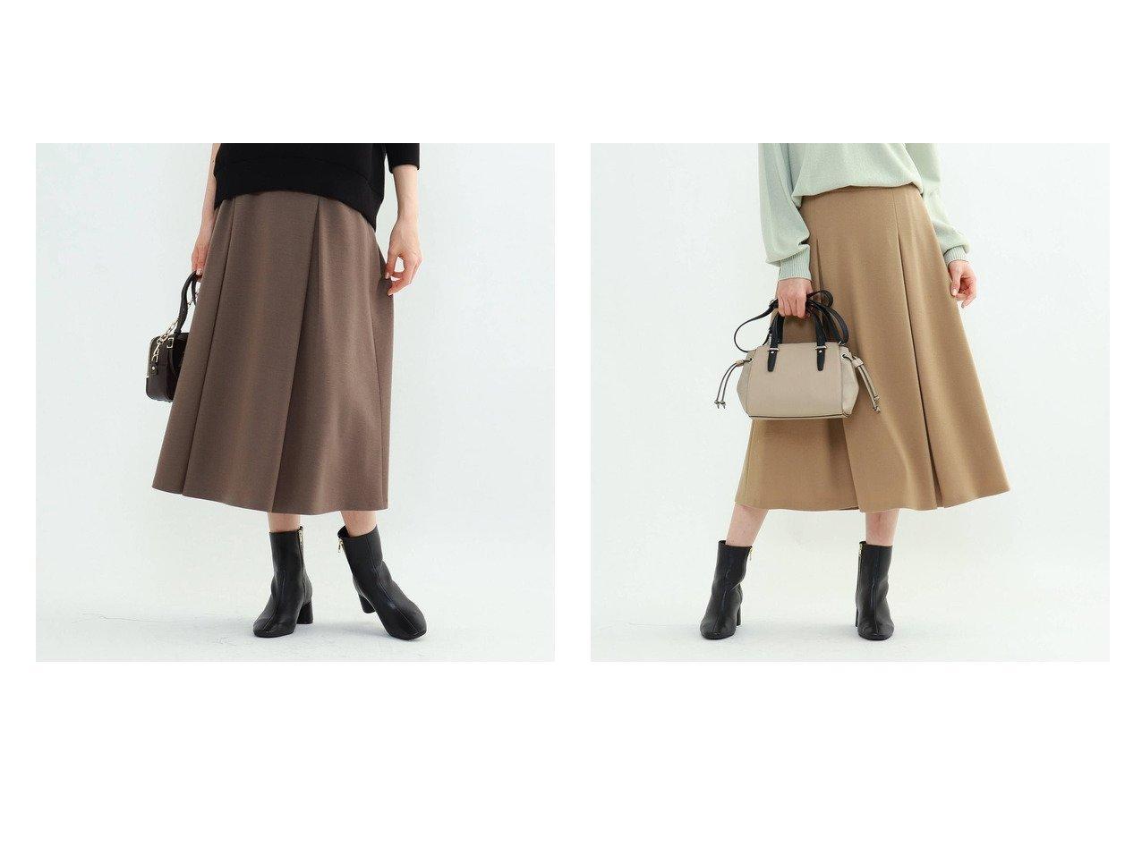 【INDIVI/インディヴィ】のジェームスミルドジャージスカート スカートのおすすめ!人気トレンド・レディースファッションの通販 おすすめで人気の流行・トレンド、ファッションの通販商品 メンズファッション・キッズファッション・インテリア・家具・レディースファッション・服の通販 founy(ファニー) https://founy.com/ ファッション Fashion レディースファッション WOMEN スカート Skirt インナー フレア ポケット A/W 秋冬 Autumn &  Winter |ID:crp329100000008775