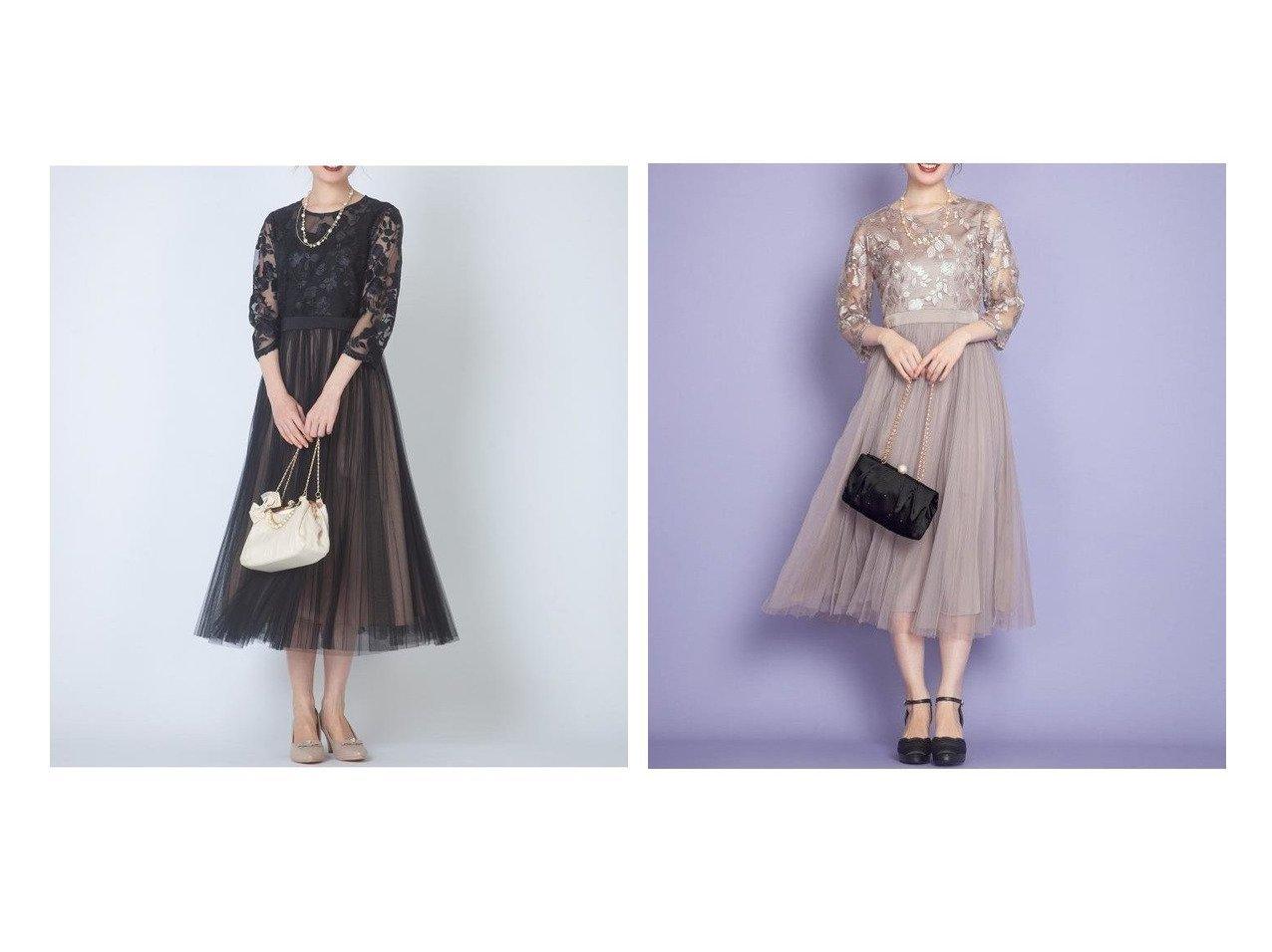 【Feroux/フェルゥ】の【大人気のため再入荷!】エンブロイダリーLuxe ドレス おすすめ!人気、トレンド・レディースファッションの通販 おすすめで人気の流行・トレンド、ファッションの通販商品 メンズファッション・キッズファッション・インテリア・家具・レディースファッション・服の通販 founy(ファニー) https://founy.com/ ファッション Fashion レディースファッション WOMEN ワンピース Dress ドレス Party Dresses エンブロイダリー トレンド ドッキング ドレス フィット フレア ロング 羽織 |ID:crp329100000008862