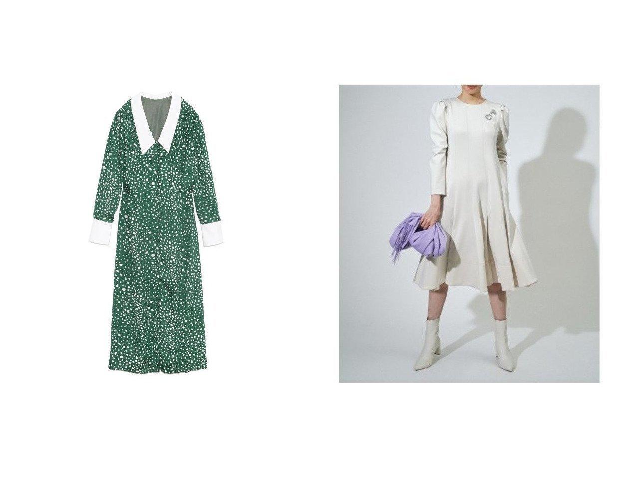 【CELFORD/セルフォード】のタックポンチワンピース&【Lily Brown/リリーブラウン】の白襟レオパード柄ワンピース おすすめ!人気、トレンド・レディースファッションの通販 おすすめで人気の流行・トレンド、ファッションの通販商品 メンズファッション・キッズファッション・インテリア・家具・レディースファッション・服の通販 founy(ファニー) https://founy.com/ ファッション Fashion レディースファッション WOMEN ワンピース Dress カフス ガウン クラシカル ストレート スマート デコルテ トレンド ドット リボン レオパード 冬 Winter ウォッシャブル スリーブ  ID:crp329100000008872