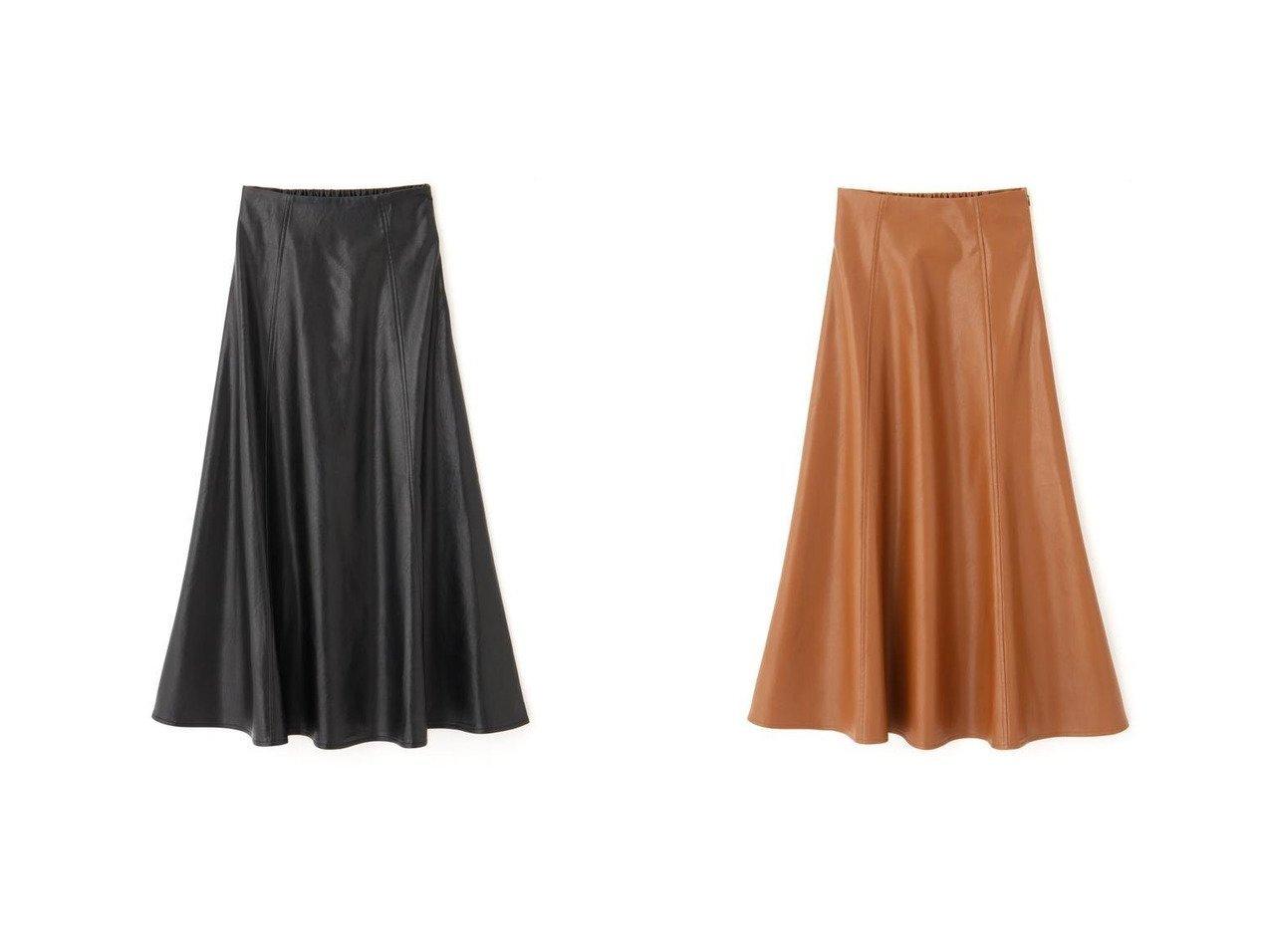 【FREE'S MART/フリーズマート】のフェイクレザーフレアスカート おすすめ!人気、トレンド・レディースファッションの通販 おすすめで人気の流行・トレンド、ファッションの通販商品 メンズファッション・キッズファッション・インテリア・家具・レディースファッション・服の通販 founy(ファニー) https://founy.com/ ファッション Fashion レディースファッション WOMEN スカート Skirt Aライン/フレアスカート Flared A-Line Skirts スタンダード トレンド フェイクレザー フレア フロント マーメイド 楽ちん  ID:crp329100000008888