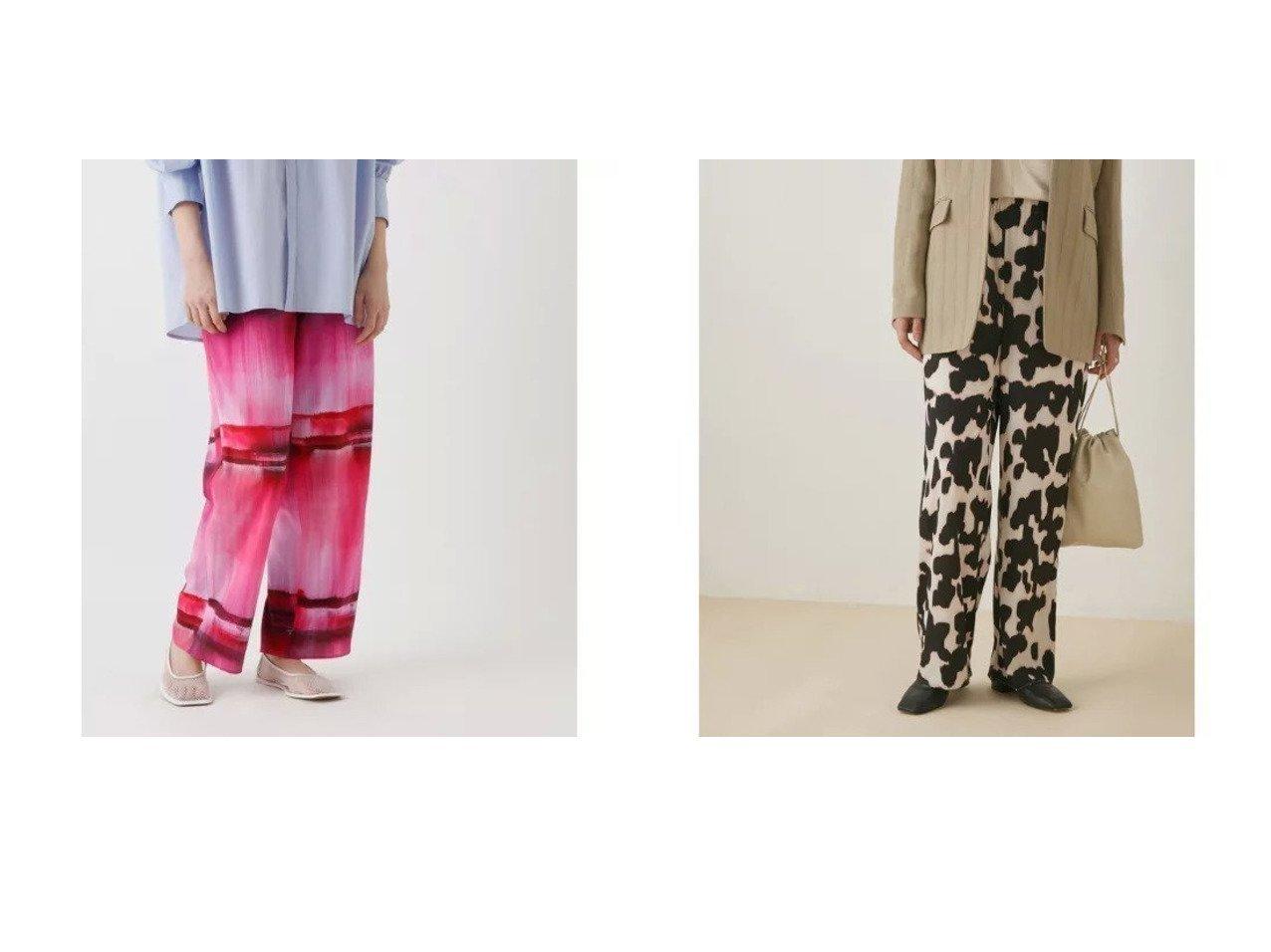 【Adam et Rope/アダム エ ロペ】のデシンプリントイージーパンツ パンツのおすすめ!人気トレンド・レディースファッションの通販 おすすめで人気の流行・トレンド、ファッションの通販商品 メンズファッション・キッズファッション・インテリア・家具・レディースファッション・服の通販 founy(ファニー) https://founy.com/ ファッション Fashion レディースファッション WOMEN パンツ Pants アニマル グラデーション シンプル プリント ポケット モノトーン |ID:crp329100000008959