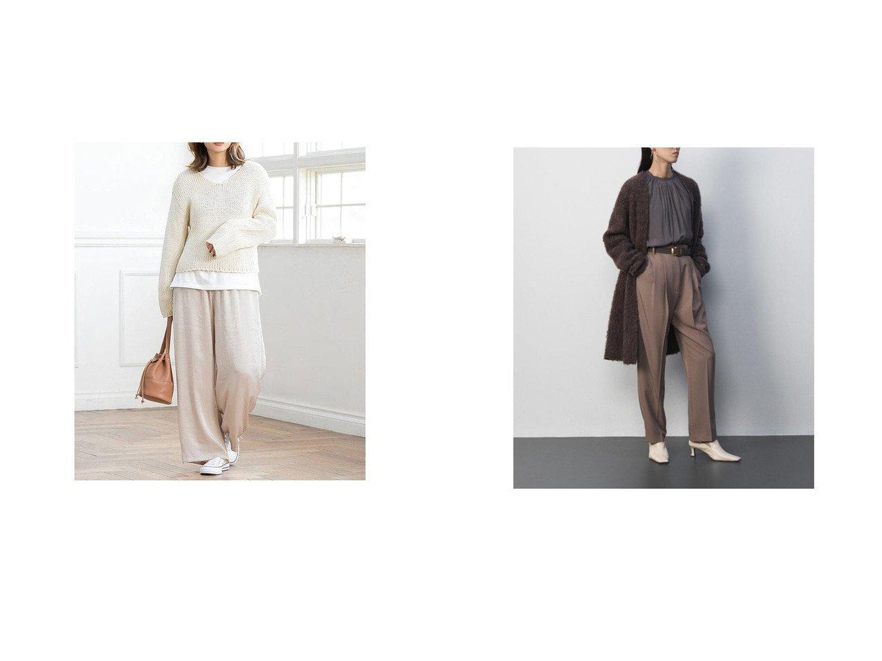 【fifth/フィフス】のヴィンテージサテンワイドパンツ&【Mila Owen/ミラオーウェン】の後ゴム2タックテーパードパンツ パンツのおすすめ!人気トレンド・レディースファッションの通販 おすすめで人気の流行・トレンド、ファッションの通販商品 メンズファッション・キッズファッション・インテリア・家具・レディースファッション・服の通販 founy(ファニー) https://founy.com/ ファッション Fashion レディースファッション WOMEN パンツ Pants スマート リラックス ワイド センター |ID:crp329100000008960