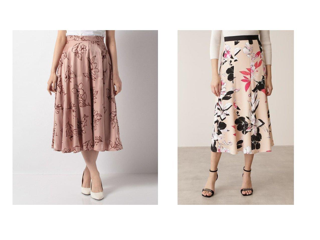 【31 Sons de mode/トランテアン ソン ドゥ モード】のフロッキーフレアスカート&【Pinky&Dianne/ピンキーアンドダイアン】のカラーフラワーゴアードスカート スカートのおすすめ!人気トレンド・レディースファッションの通販 おすすめで人気の流行・トレンド、ファッションの通販商品 メンズファッション・キッズファッション・インテリア・家具・レディースファッション・服の通販 founy(ファニー) https://founy.com/ ファッション Fashion レディースファッション WOMEN スカート Skirt Aライン/フレアスカート Flared A-Line Skirts エレガント ギャザー フェミニン フラワー フレア ベスト ロマンティック トレンド プリント |ID:crp329100000008973