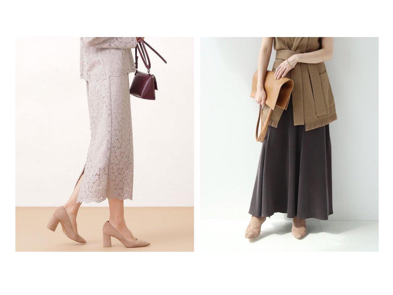 【Plage/プラージュ】の《追加》Fibril Slit スカート2&【nano universe/ナノ ユニバース】のリーフレースタイトスカート (セットアップ可) スカートのおすすめ!人気トレンド・レディースファッションの通販 おすすめで人気の流行・トレンド、ファッションの通販商品 メンズファッション・キッズファッション・インテリア・家具・レディースファッション・服の通販 founy(ファニー) https://founy.com/ ファッション Fashion レディースファッション WOMEN セットアップ Setup スカート Skirt スカート Skirt Aライン/フレアスカート Flared A-Line Skirts セットアップ タイトスカート ボタニカル モチーフ リーフ レース A/W 秋冬 Autumn &  Winter シンプル スリット |ID:crp329100000008974