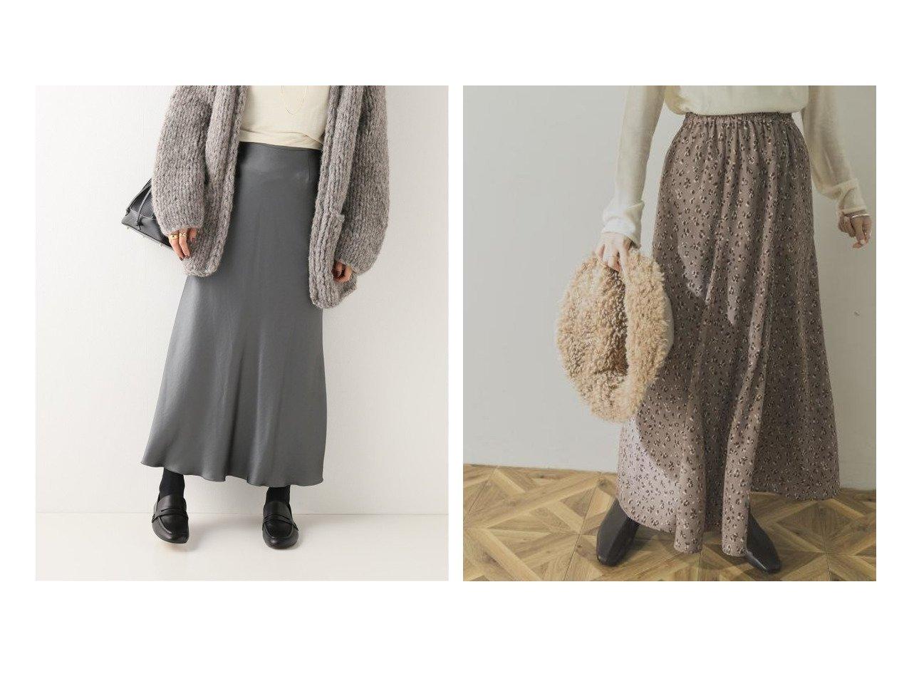【URBAN RESEARCH/アーバンリサーチ】のロングフレアレオパードスカート&【IENA/イエナ】の《追加2》サテンスリットスカート スカートのおすすめ!人気トレンド・レディースファッションの通販 おすすめで人気の流行・トレンド、ファッションの通販商品 メンズファッション・キッズファッション・インテリア・家具・レディースファッション・服の通販 founy(ファニー) https://founy.com/ ファッション Fashion レディースファッション WOMEN スカート Skirt スウェット タイツ フレア フロント ポケット 防寒 ロング A/W 秋冬 Autumn &  Winter サテン ストレッチ スリット バイアス ワッシャー 春 |ID:crp329100000008977