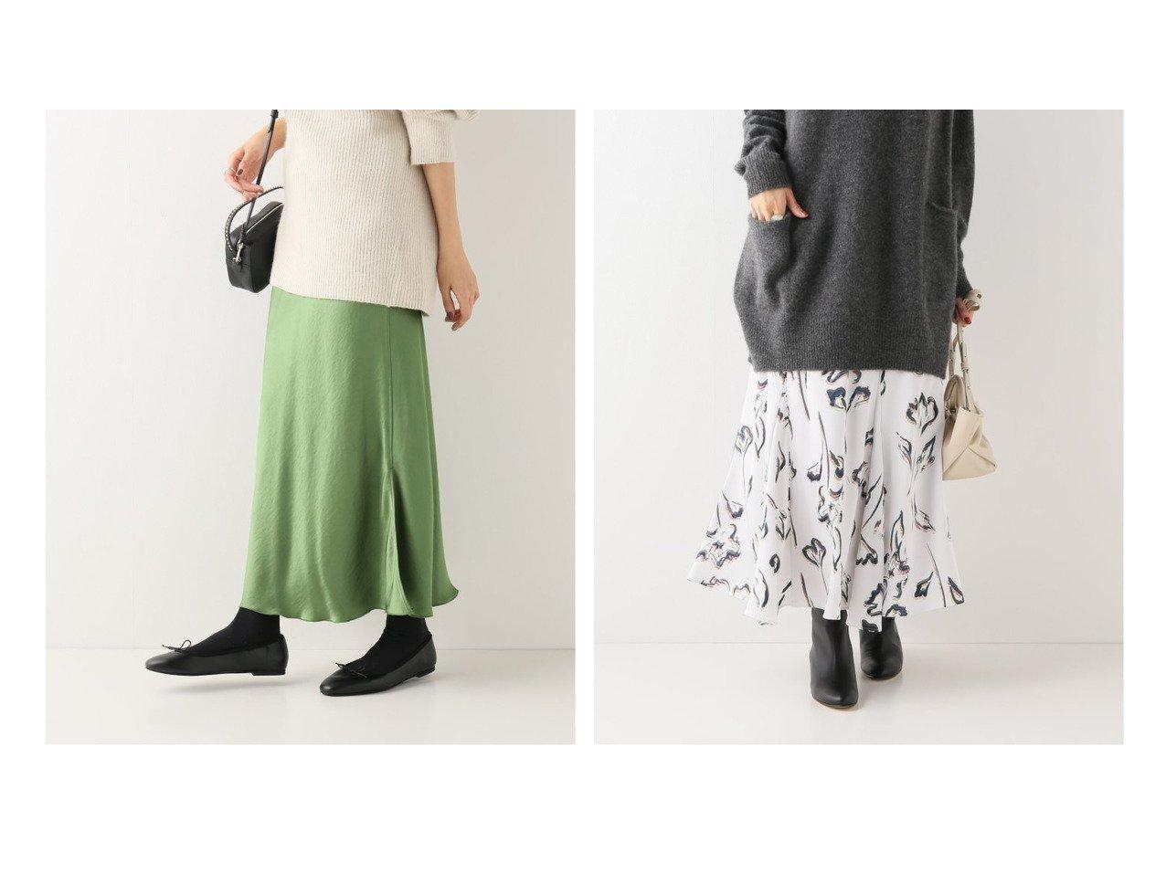 【IENA/イエナ】のフラワーアートプリント フレアスカート&《追加2》サテンスリットスカート スカートのおすすめ!人気トレンド・レディースファッションの通販 おすすめで人気の流行・トレンド、ファッションの通販商品 メンズファッション・キッズファッション・インテリア・家具・レディースファッション・服の通販 founy(ファニー) https://founy.com/ ファッション Fashion レディースファッション WOMEN スカート Skirt Aライン/フレアスカート Flared A-Line Skirts A/W 秋冬 Autumn &  Winter サテン ストレッチ スリット バイアス ワッシャー 春 フラワー フレア プリント ロング |ID:crp329100000008979