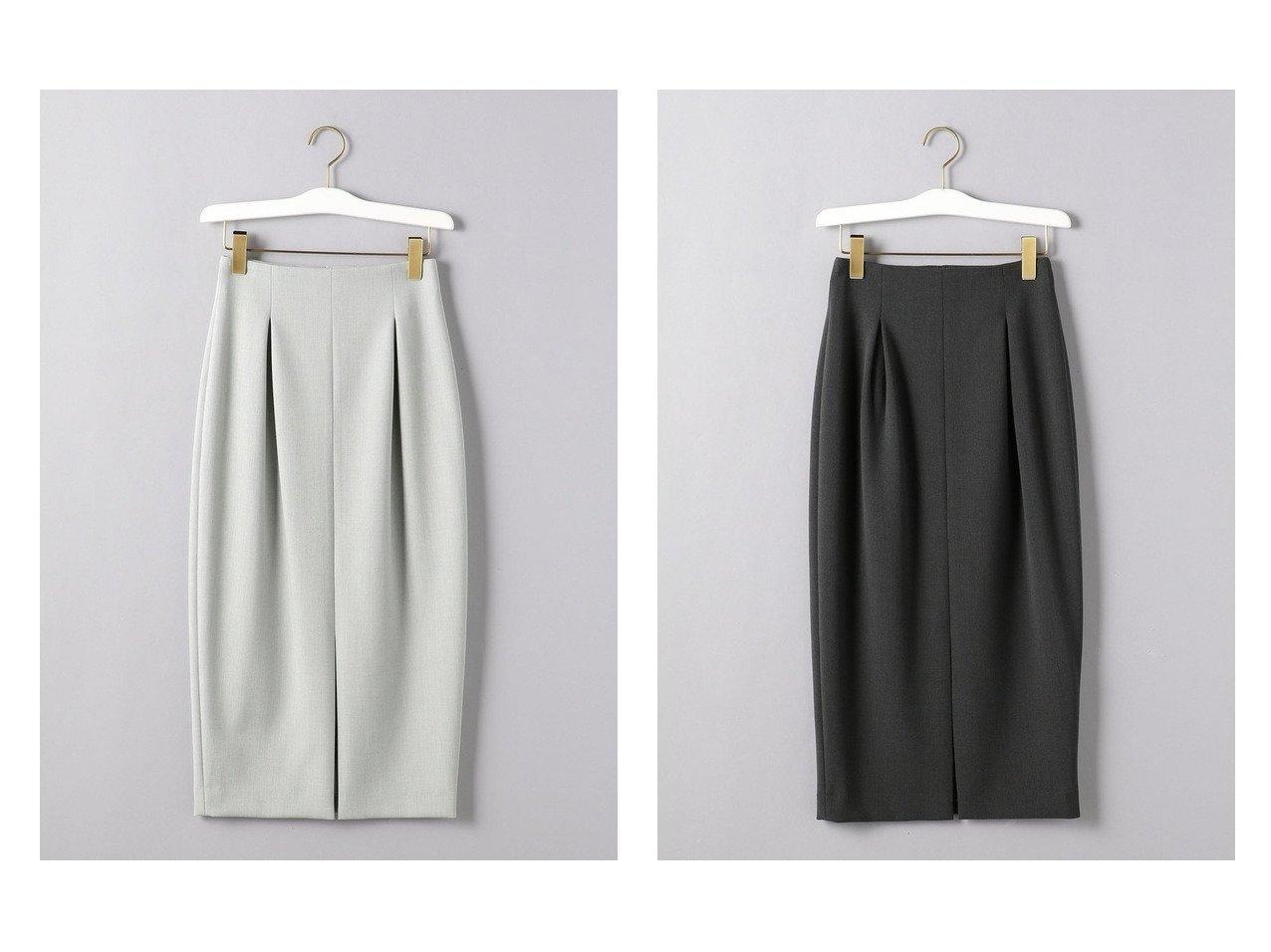 【UNITED ARROWS/ユナイテッドアローズ】のW ハイウエスト タック タイトスカート スカートのおすすめ!人気トレンド・レディースファッションの通販 おすすめで人気の流行・トレンド、ファッションの通販商品 メンズファッション・キッズファッション・インテリア・家具・レディースファッション・服の通販 founy(ファニー) https://founy.com/ ファッション Fashion レディースファッション WOMEN スカート Skirt ロングスカート Long Skirt ジャージ スリット タイトスカート フロント ボックス ロング |ID:crp329100000008986